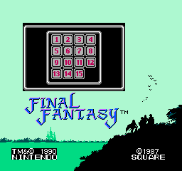 final fantasy nes tile game