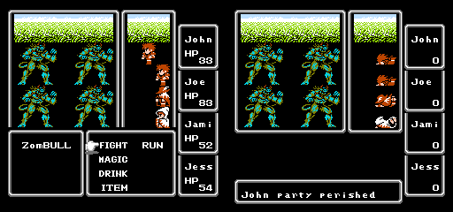 final fantasy nes leveling up