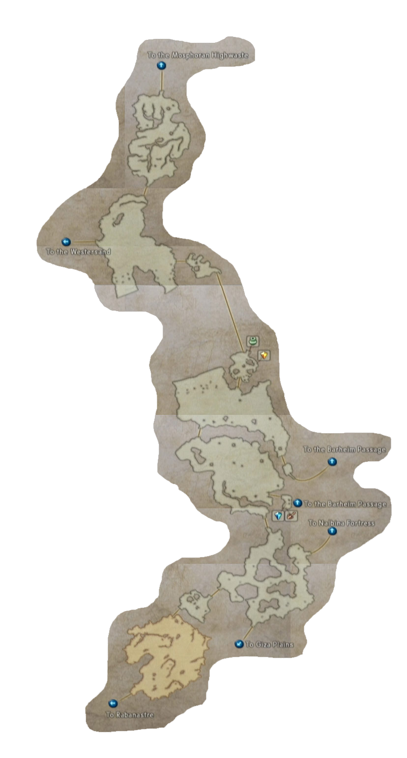 final fantasy xii eastersand map