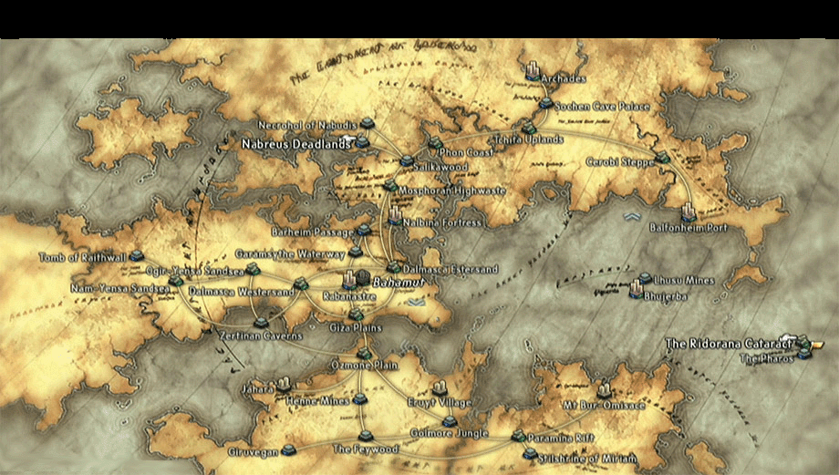 final fantasy XII world map