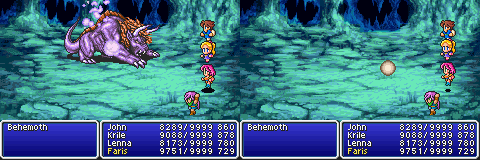 final fantasy v advance titan's grotto