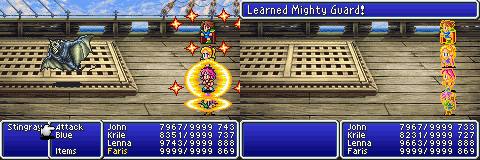 final fantasy v advance mighty guard spell
