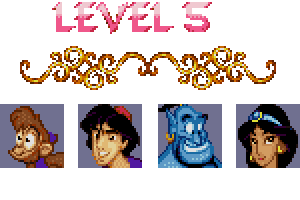aladdin level 5 password