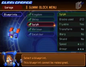 kingdom hearts gummi garage