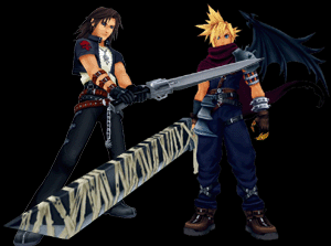 kingdom hearts coliseum cloud & leon