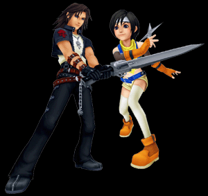 kingdom hearts coliseum leon & yuffie