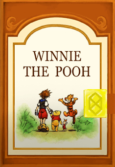 kingdom hearts II 100 acre wood book original