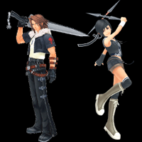 pain and panic cup leon and yuffie