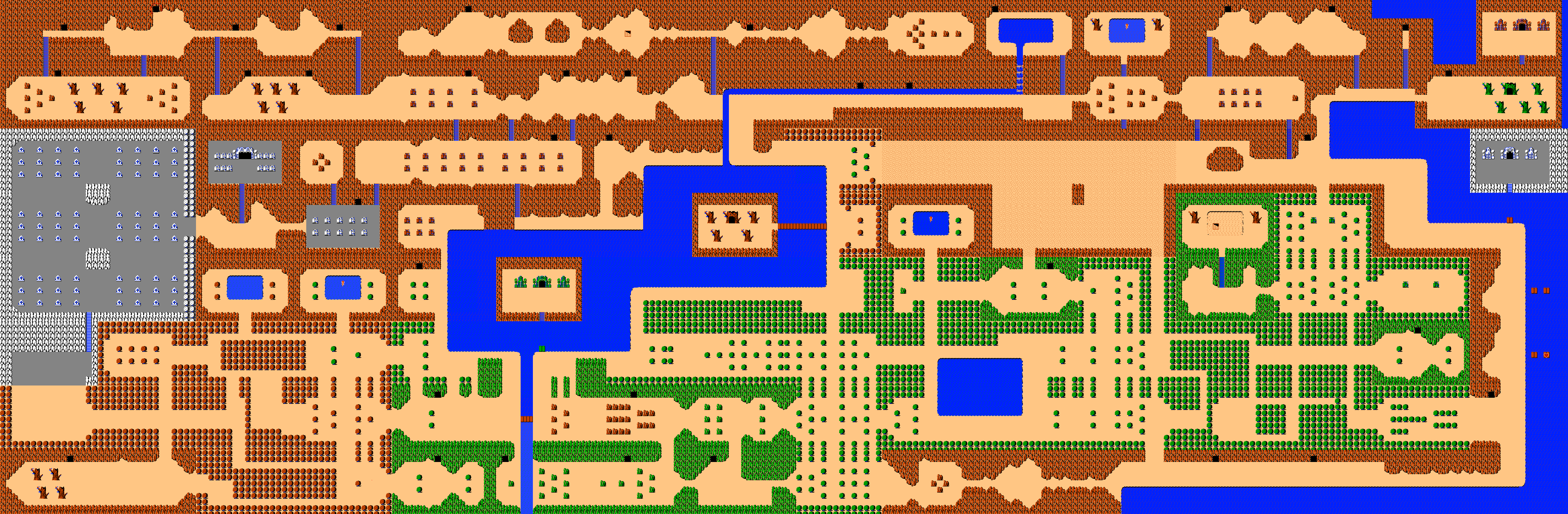 legend of zelda quest 2 map